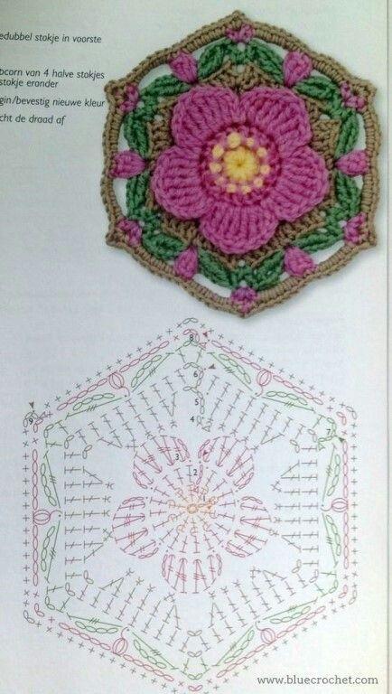 crochet hexagons tutorial ideas 5