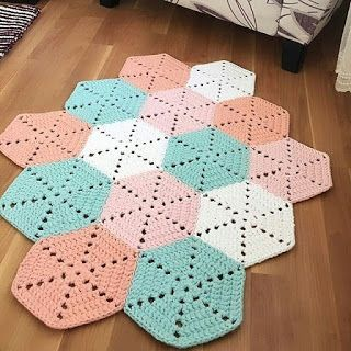 crochet hexagons tutorial ideas 6