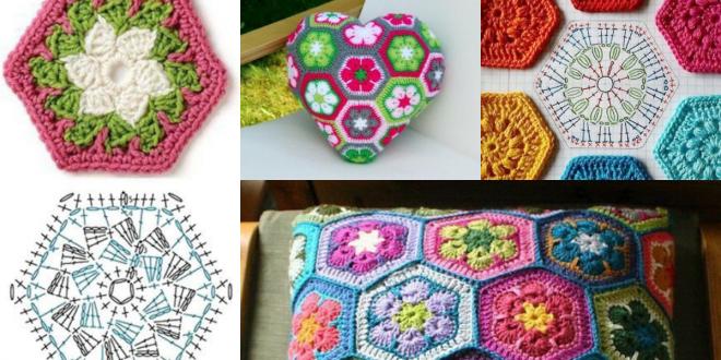 crochet hexagons tutorial ideas