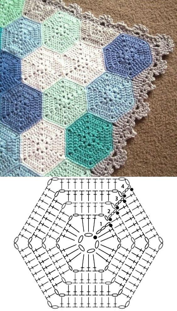crochet hexagons tutorial ideas 9