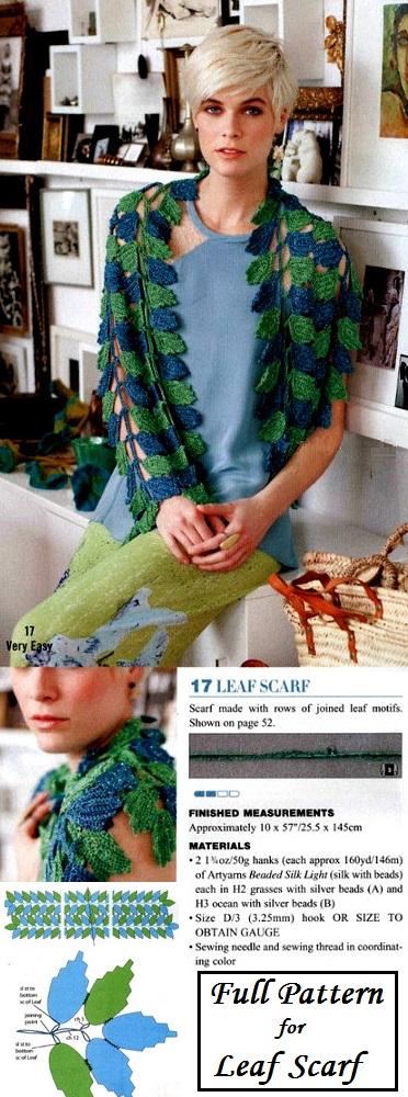 crochet leafs pattern ideas 10