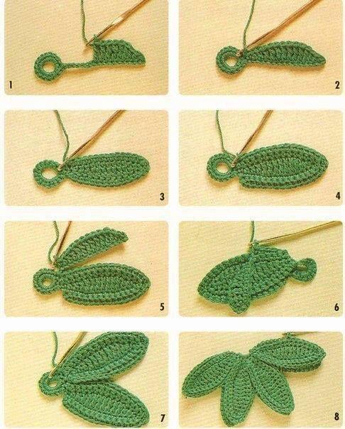 crochet leafs pattern ideas 3