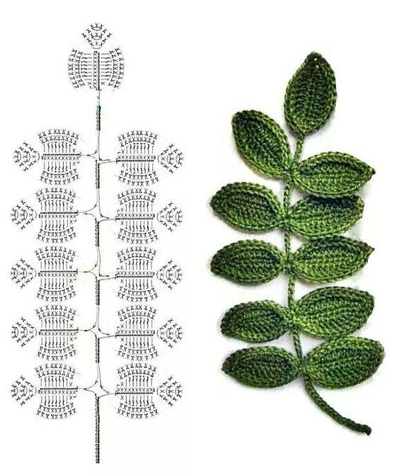 crochet leafs pattern ideas 5