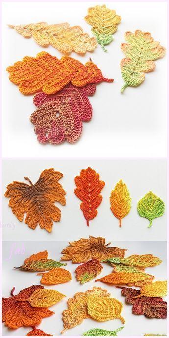 crochet leafs pattern ideas 6