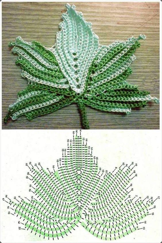 crochet leafs pattern ideas 9