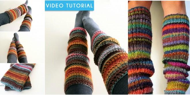 crochet leggwarmer