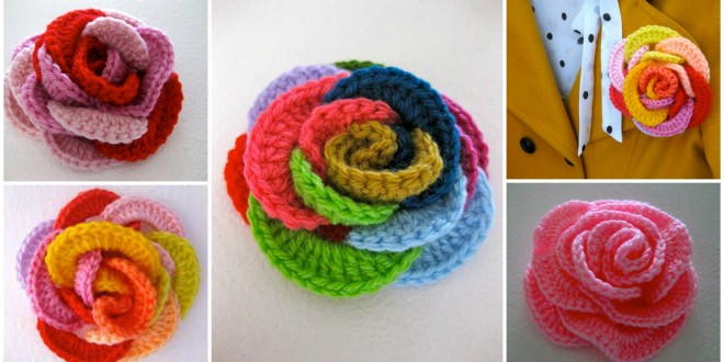 crochet loopy roses