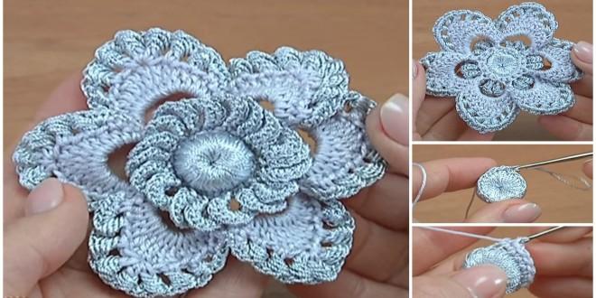 crochet lovely flower 1