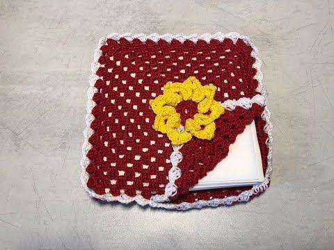 crochet napkin holders ideas 10