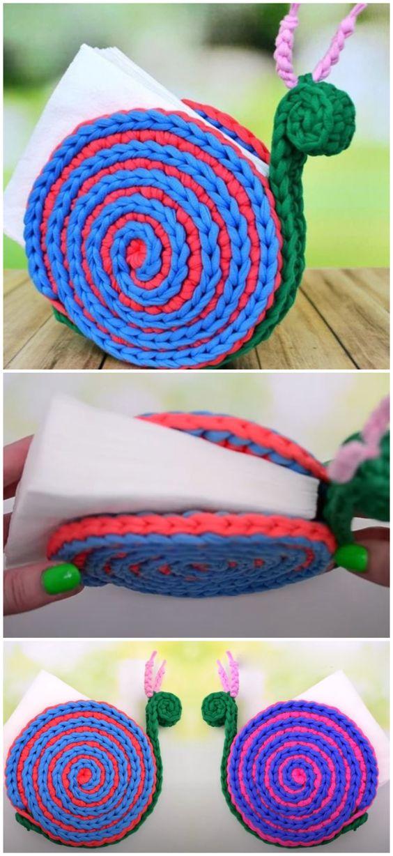 crochet napkin holders ideas 13