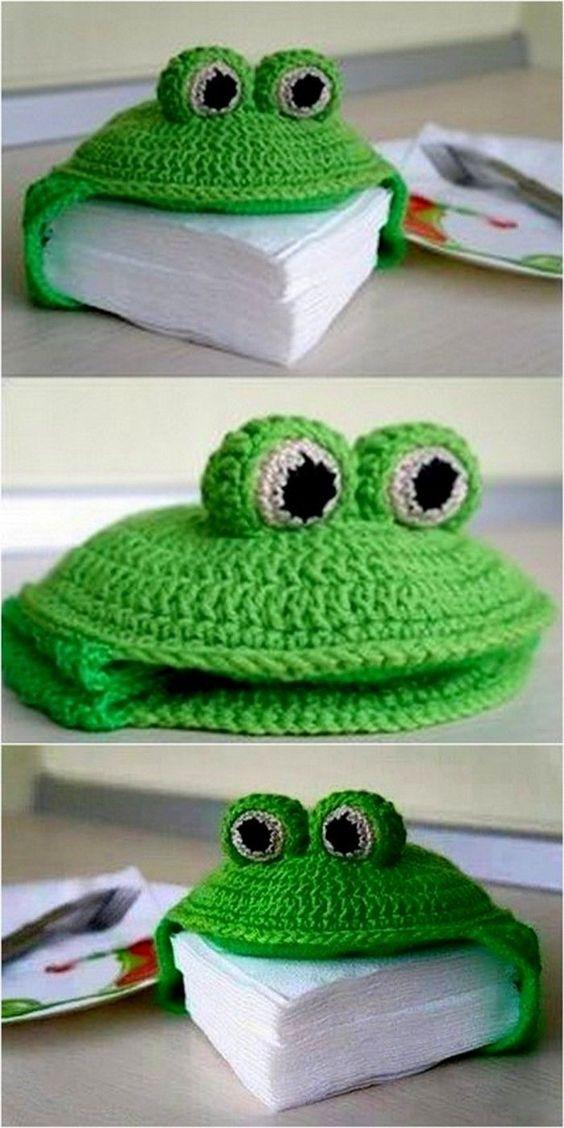 crochet napkin holders ideas 2