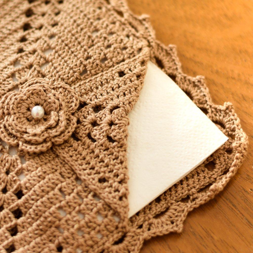 crochet napkin holders ideas 4