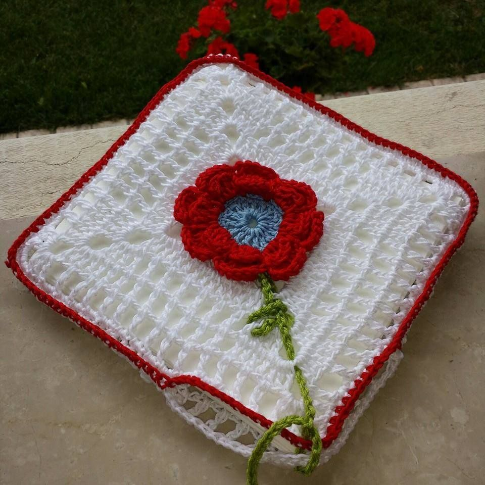 crochet napkin holders ideas 5