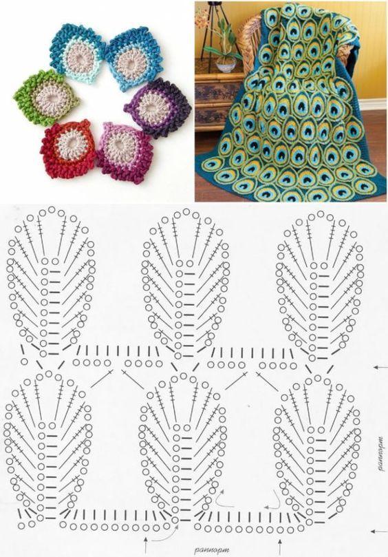 crochet peacock patterns 2