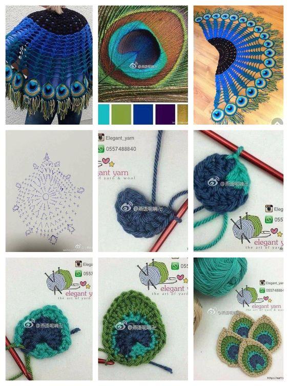crochet peacock patterns 4