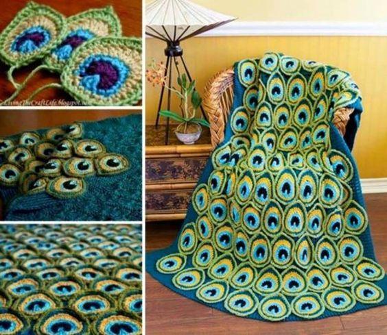 crochet peacock patterns 5
