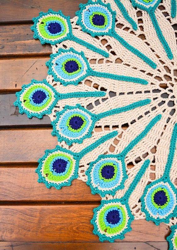 crochet peacock patterns 7
