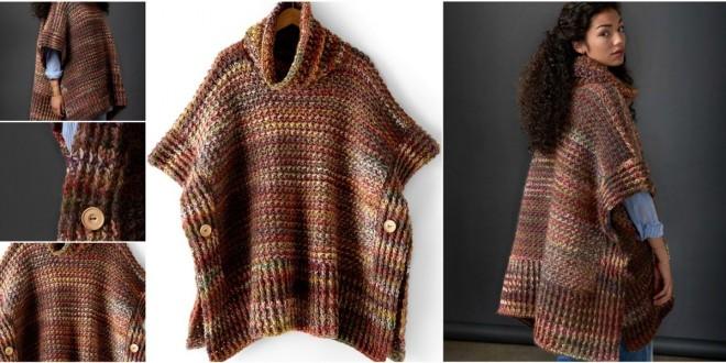 crochet poncho cloak