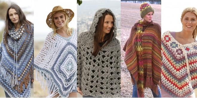 crochet poncho designs
