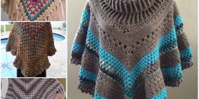 crochet poncho how to