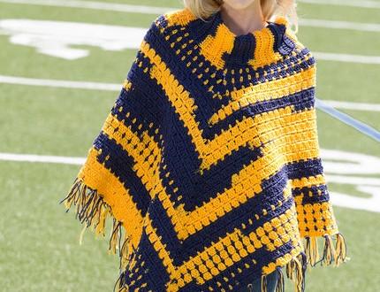 crochet poncho sporty