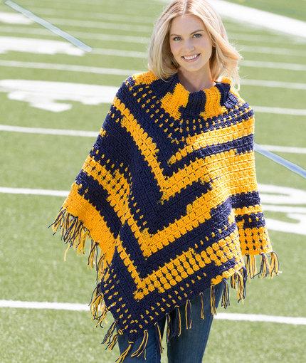 Crochet Sporty Poncho Free Pattern
