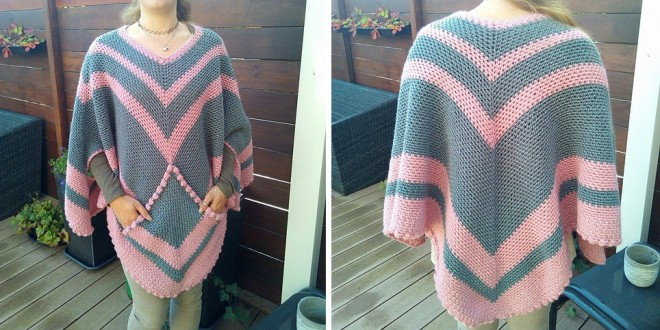 crochet poncho with pocket