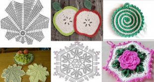 crochet potholders tutorial and ideas