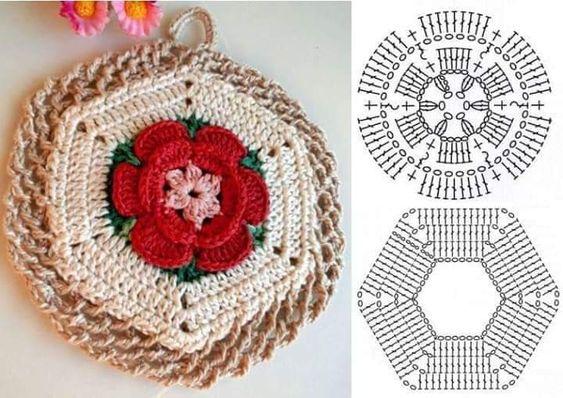 crochet potholders tutorial ideas 4