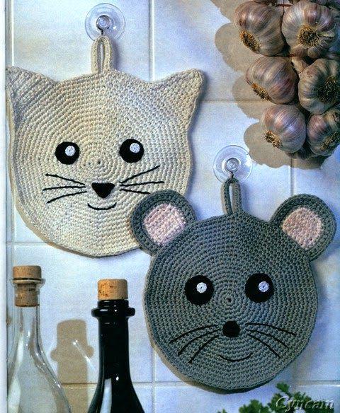 crochet potholders tutorial ideas 5