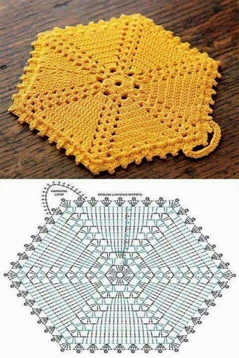 crochet potholders tutorial ideas