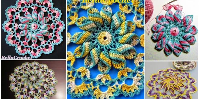 crochet pretty pinwheel doily