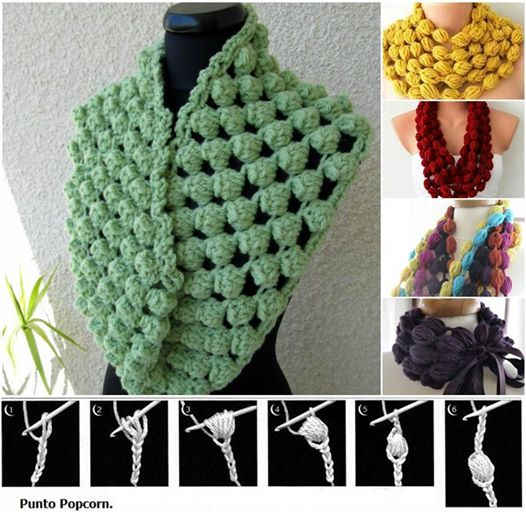 crochet-puff-ball-scarf