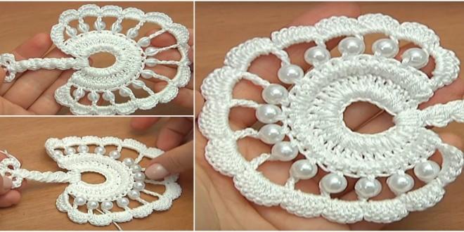 crochet round leaf