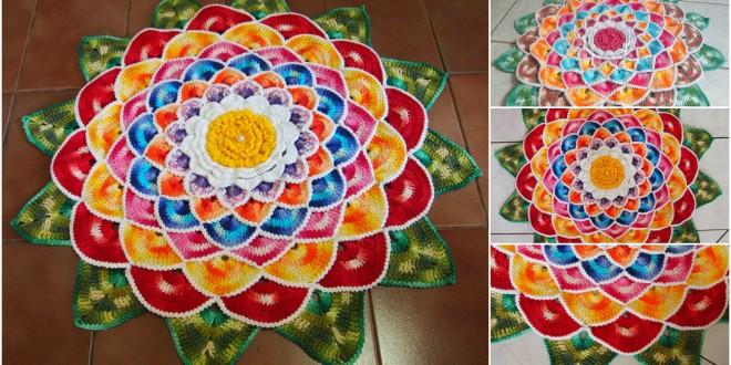 crochet rug mandala