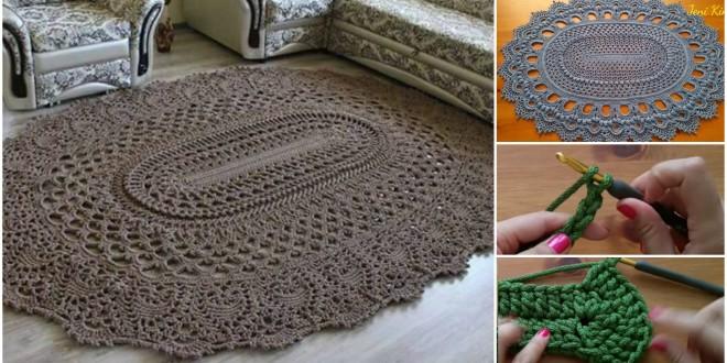 crochet rug oval