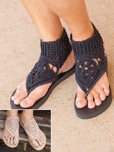 crochet sandals ideas 10