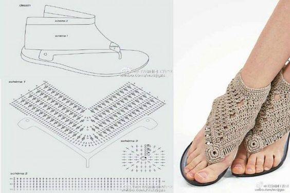 crochet sandals ideas 2