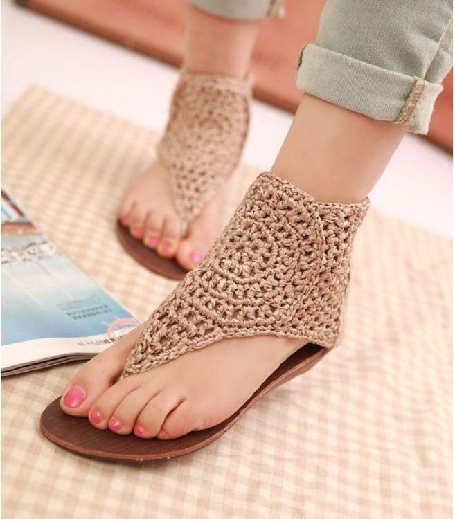 crochet sandals ideas 3