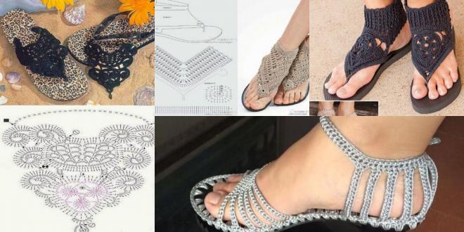 crochet sandals ideas