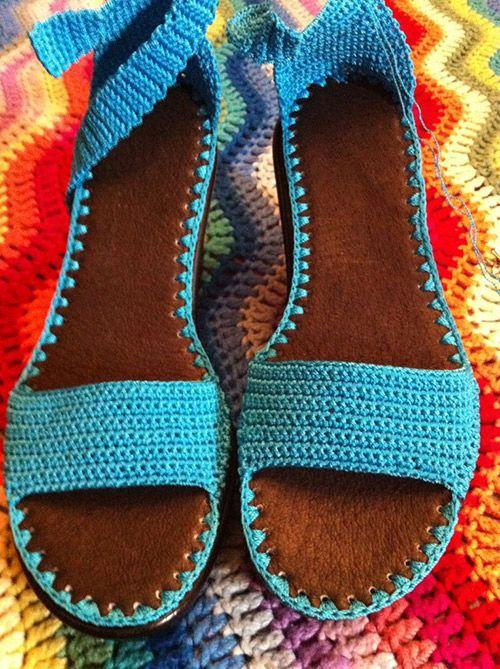 crochet sandals ideas 9