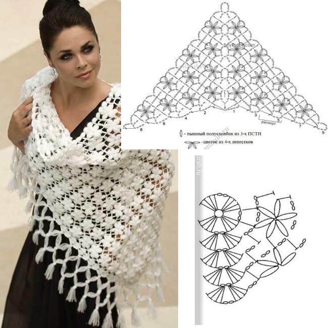 crochet shawls tutorial patterns 1