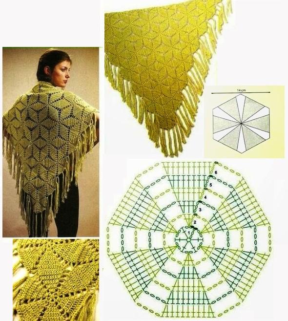 crochet shawls tutorial patterns 10