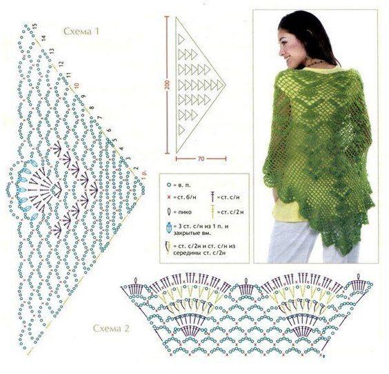 crochet shawls tutorial patterns 2