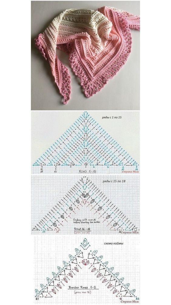 crochet shawls tutorial patterns 3