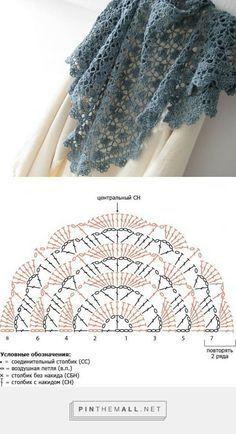 crochet shawls tutorial patterns 6