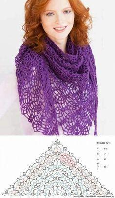crochet shawls tutorial patterns 7