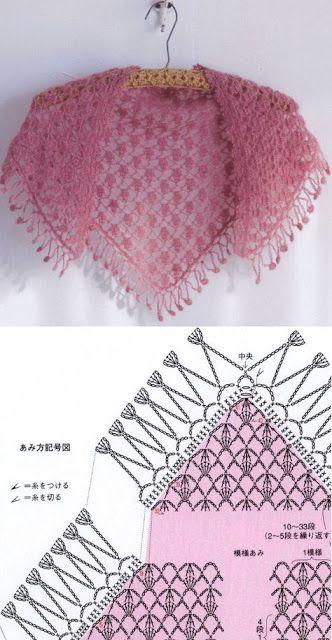 crochet shawls tutorial patterns 8