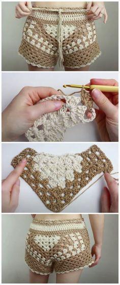 crochet shorts video ideas