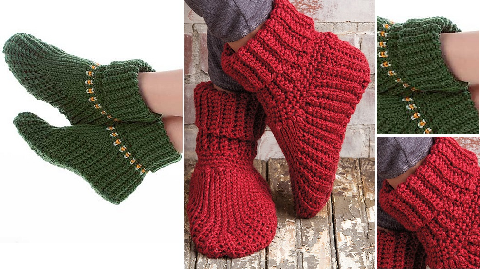 crochet-slippers-boots